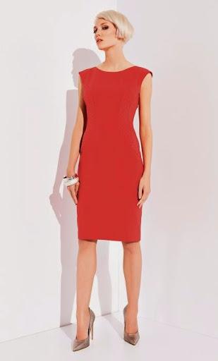 Красное платье карандаш из вискозы