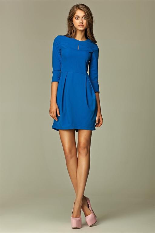 f99697761fe Платье тюльпан синее на каждый день - фото 10613