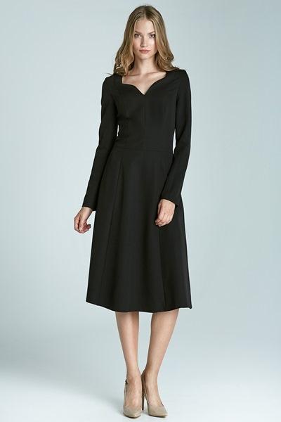 7f946d56fa9a Черное платье с длинными рукавами Nife