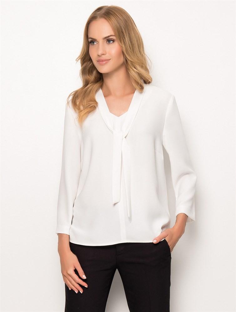 53bab1773f5 Белая блуза с завязкой SUNWEAR из Польши купить