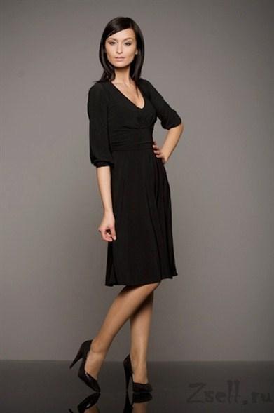 df9d9b73a92 Повседневное и элегантное черное платье купить Nife