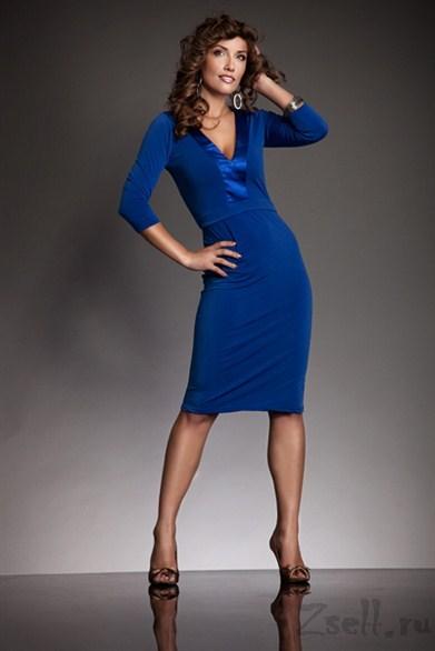 14a6df4fd7c изысканное повседневное платье Nife синее