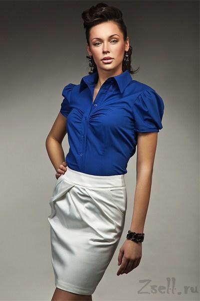 02a31e82478 Классическая синяя рубашка на лето Nife на работу в офис купить