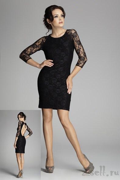 a36c1ede813 Черное кружевное платье Figl купить недорого в интернет магазине