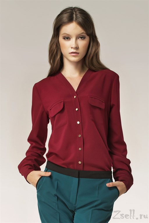 97d4904f5a83 Изысканная бордовая блуза купить недорого блузку