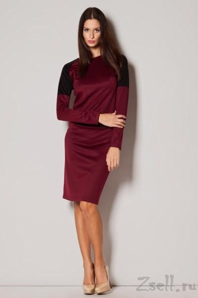 a96197dc239 Бордовое трикотажное платье недорого купить