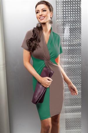 Двухцветное платье на каждый день - фото 10121