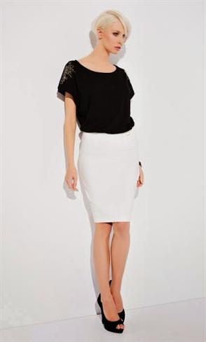Модная черная блуза - фото 10493