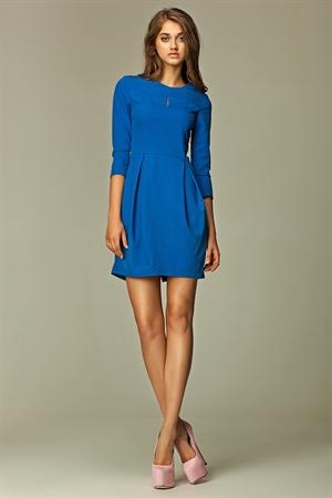 Платье тюльпан синее на каждый день - фото 10613