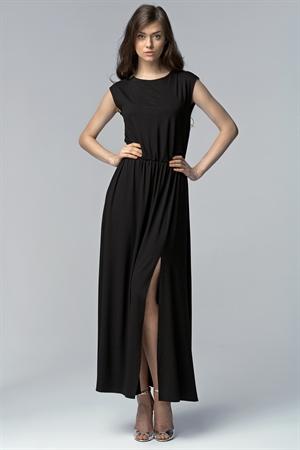 Длинное черное платье на вечер - фото 10692
