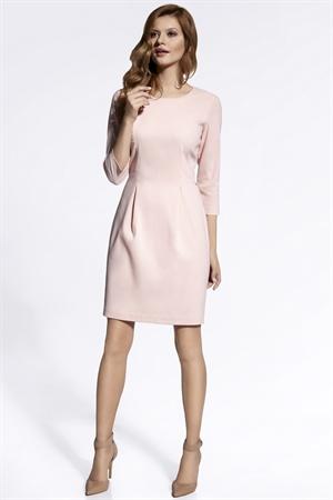 Коктейльное платье нежно-розового оттенка - фото 10787