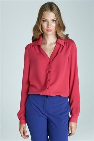 Розовая, яркая рубашка на каждый день Nife - фото 10968