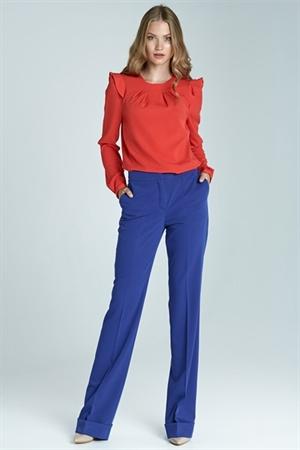 Яркие синие брюки Nife - фото 10972