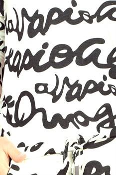Трикотажное платье с поясом - фото 11065