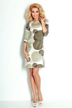 Мини платье цвета хаки - фото 11094