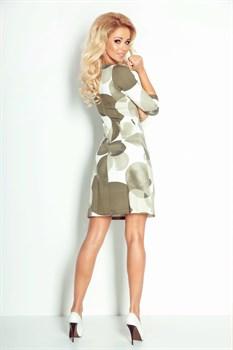 Мини платье цвета хаки - фото 11095