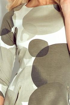Мини платье цвета хаки - фото 11097