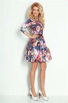 Коктейльное платье с орнаментом цветы - фото 11133