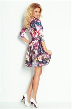 Коктейльное платье с орнаментом цветы - фото 11134
