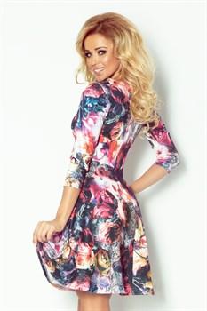 Коктейльное платье с орнаментом цветы - фото 11135