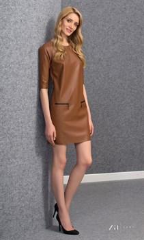 Платье «под кожу» прямого фасона Zaps - фото 11574