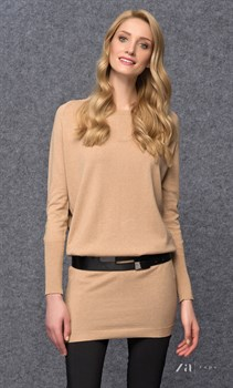 Бежевое платье-свитер zaps - фото 11601