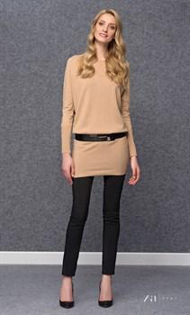 Бежевое платье-свитер zaps - фото 11602