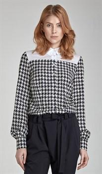 Стильная блуза с узором - фото 11909