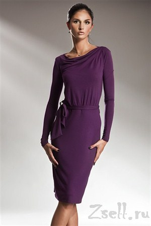 Лаконичное платье с длинным рукавом - фото 18