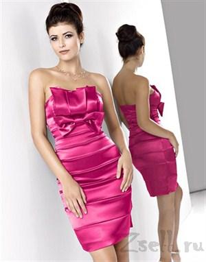 Элегантное атласное платье - фото 26