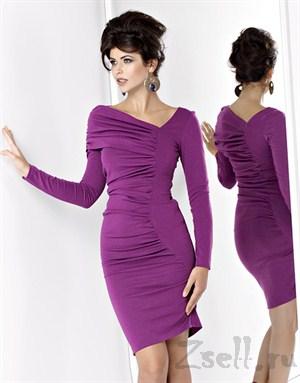 Коктейльное платье с драпировкой - фото 85