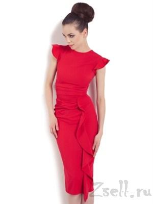 Очаровательное красное платье - фото 99