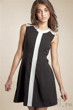 Повседневное платье с вертикальной полосой - фото 106
