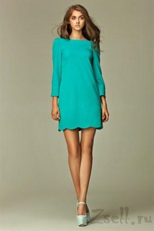 Платье туника с удлиненным  рукавом - фото 128