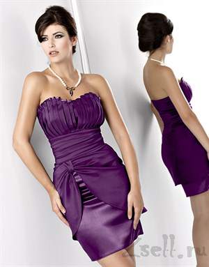 Коктейльное платье с шикарной драпировкой - фото 161