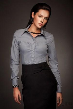 Рубашка с отложным воротничком - фото 267