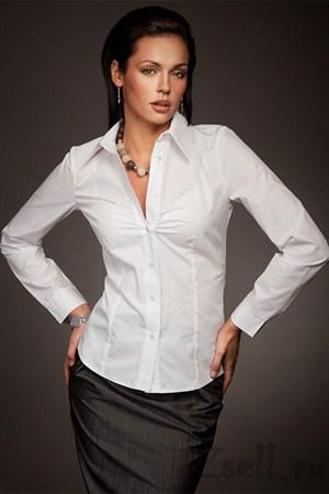Рубашка с отложным воротничком - фото 270