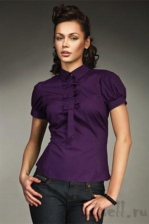 Современная блузка с рукавами фонариками - фото 282