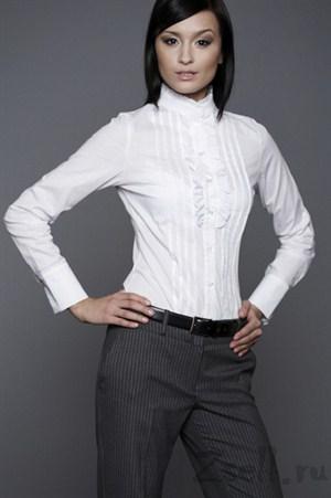 Рубашка с воротником-стойкой - фото 301