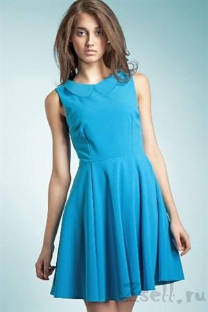 Повседневное платье А силуэта красное - фото 315