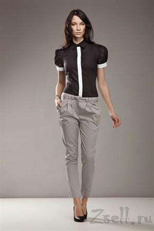 Зауженные брюки, цвет серый - фото 335