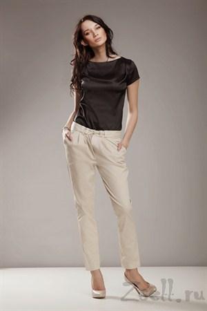 Зауженные брюки, цвет серый - фото 336