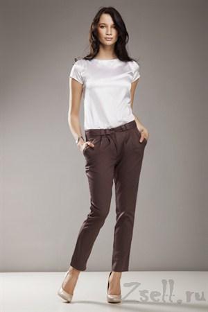 Зауженные брюки, цвет серый - фото 337
