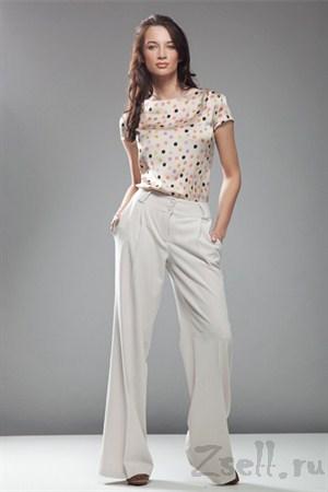 Стильные широкие брюки, цвет черный - фото 379