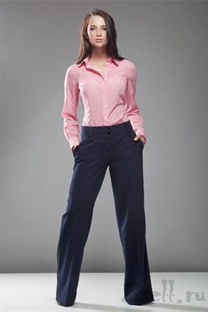 Стильные широкие брюки, цвет черный - фото 381
