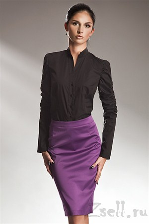 Атласная юбка фиолетовая - фото 410