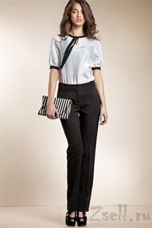 Классические черные брюки - фото 418