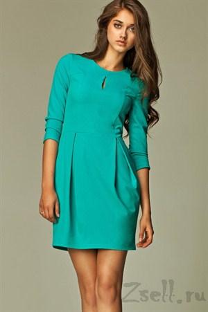 Платье тюльпан синее на каждый день - фото 491