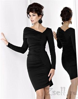 Платье с драпировкой, фиолетового цвета - фото 497