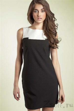 Платье-туника мини, белая - фото 558